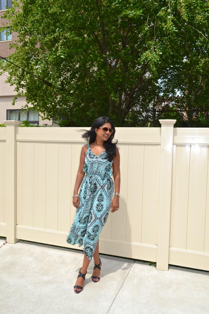 summer dress scarf print dress H&M dress