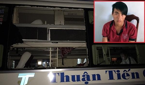 Khởi tố 3 đối tượng ném đá xe khách giường nằm Thuận Tiến Gia Lai khiến tài xế hỏng mắt