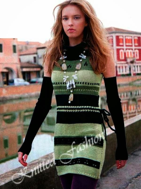 вязанные платья с жаккардом