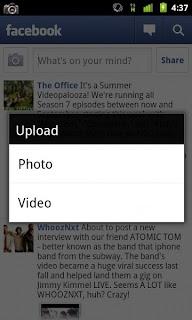 Facebook Atualizado para Android versão 1.6