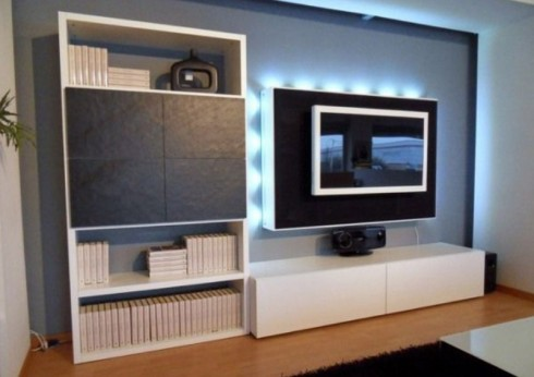 Lcd tv furniture book shelf designs ideas an interior design - Tv shelf design ...