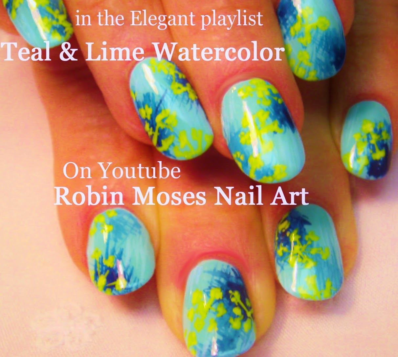 Nail Art By Robin Moses Water Color Nails Watercolor Nails