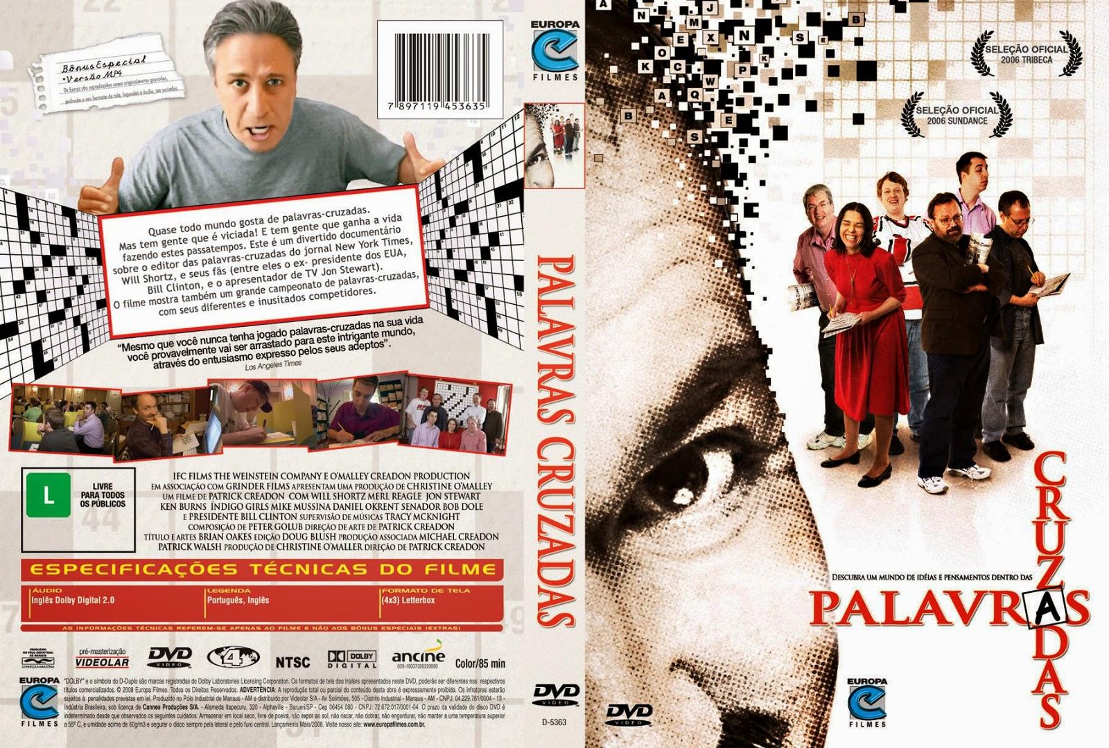 Capa DVD Palavras Cruzadas