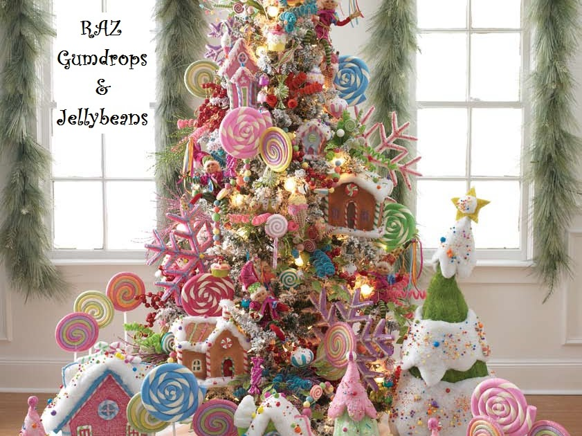 Raz christmas at shelley b home and holiday gumdrop and - Arboles de navidad decorados ...
