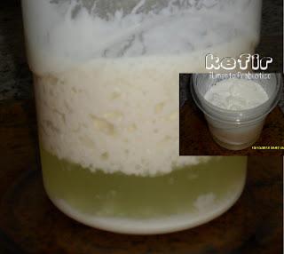 kefir de leite com soro