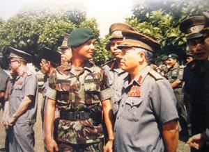 Prabowo bersama para jenderal