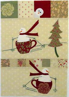 Merry Merry Snowman Block 5