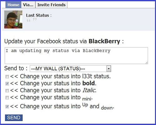 status+update+via+blackberry