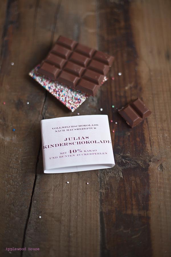 Julias Kinderschokolade Gmeiner Konfiserie chocolate nonpareilles