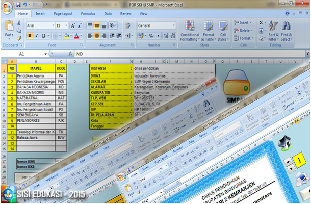 Aplikasi SKHU dan Nilai Ijazah SMP dengan Microsoft Excel Download Gratis