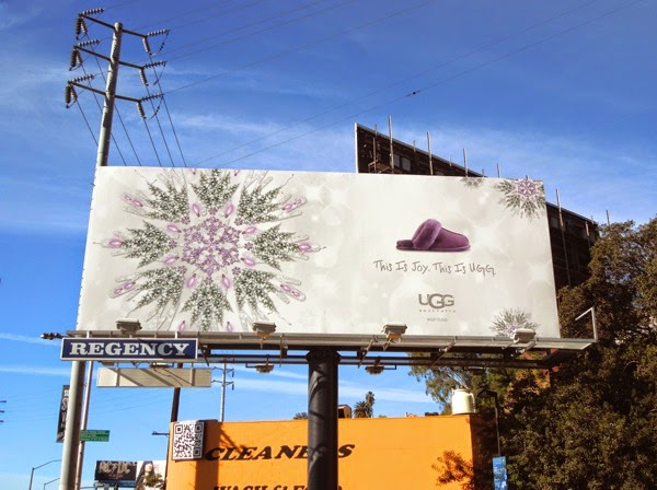 This is Joy This is UGG festive gift billboard