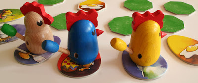 Zicke Zacke Huhnerkacke - Three of the 4 million chickens created for this award winning game