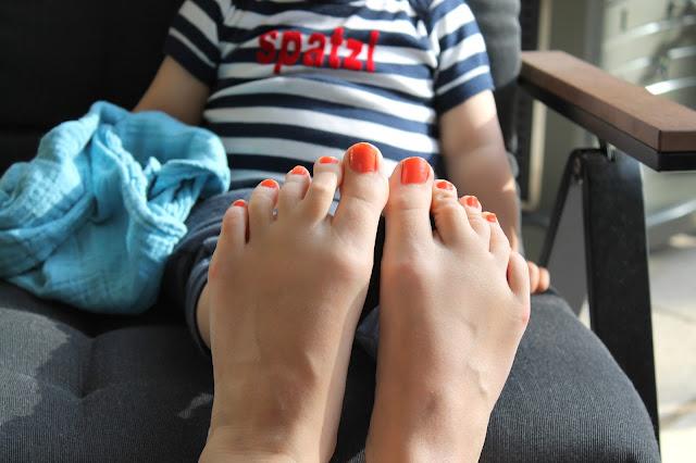 Füße hoch im Garten