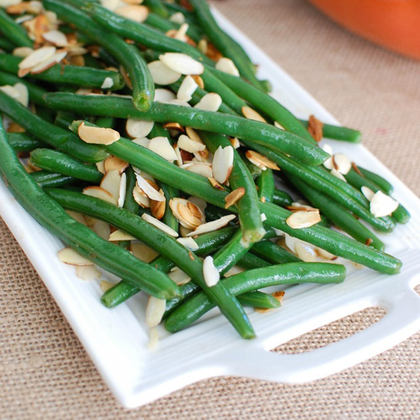 Green Beans with Brown Butter and Toasted Almonds by A Cedar Spoon