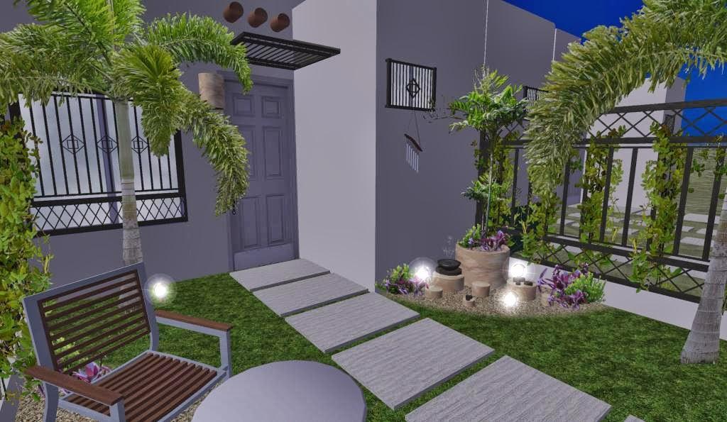 Dise o 3d de jard n peque o en fraccionamiento proyectos zen ambient - Iluminacion jardines pequenos ...