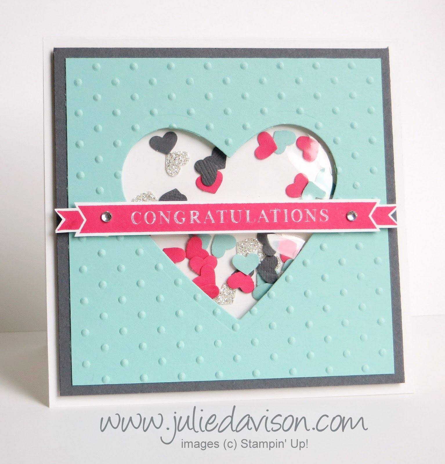 Stampin' Up! Occasions 4 You Wedding Shaker Card
