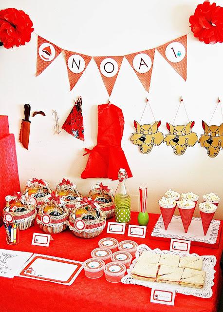 cumpleaños infantil caperucita fiestas bonitas