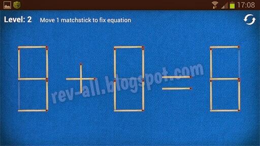 Contoh soal Puzzle with Matches - permainan otak-atik asah otak dan kreatifitas (rev-all.blogspot.com) Ikon Puzzle with Matches