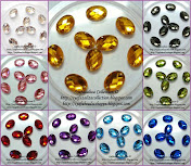 Sew on Acrylic Stone Oval 14mm