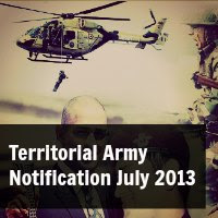 Territorial Army Notification July 2013