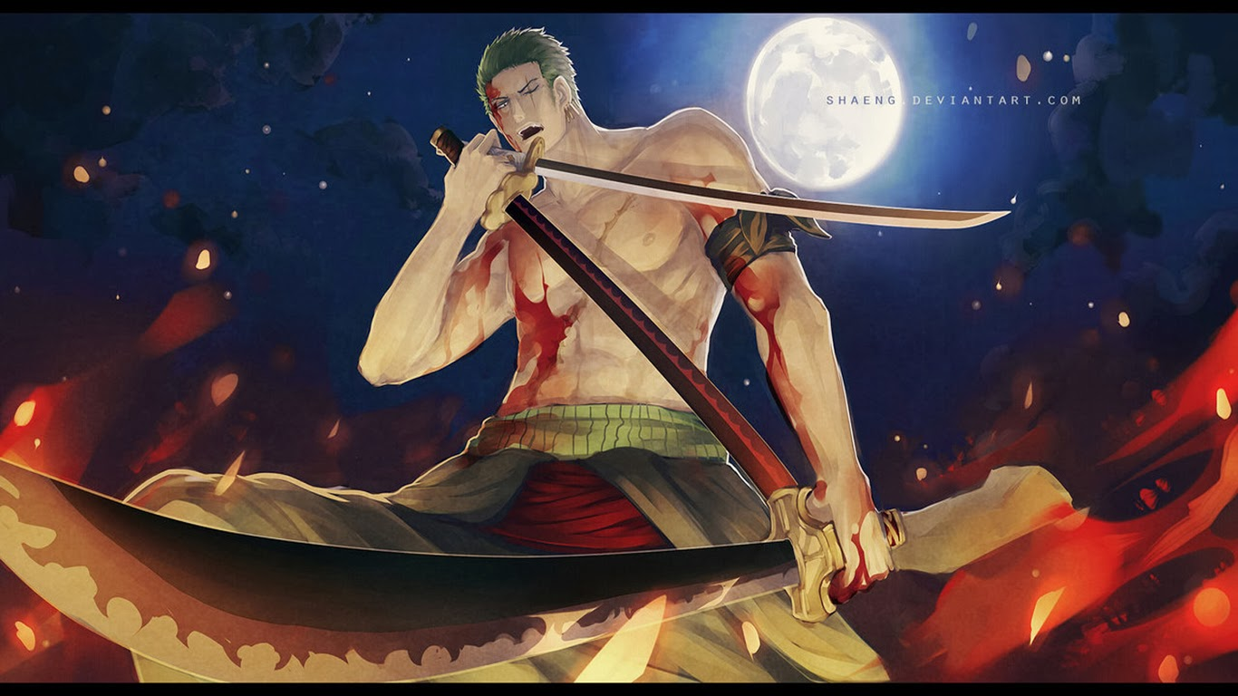 roronoa zoro 3 sword 2s wallpaper hd