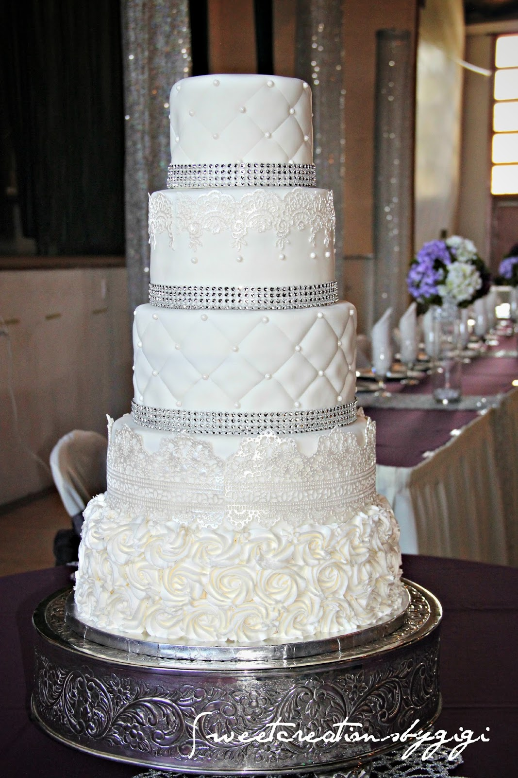 Wedding cakes sweet creations by gigi for Wedding cake layer