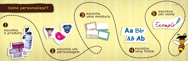 Kits para escola, viajem e passeio personalizados