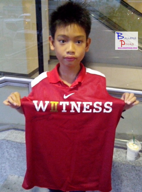 Boy Who Got LeBron's Jersey In The Witness History Event In MOA Arena