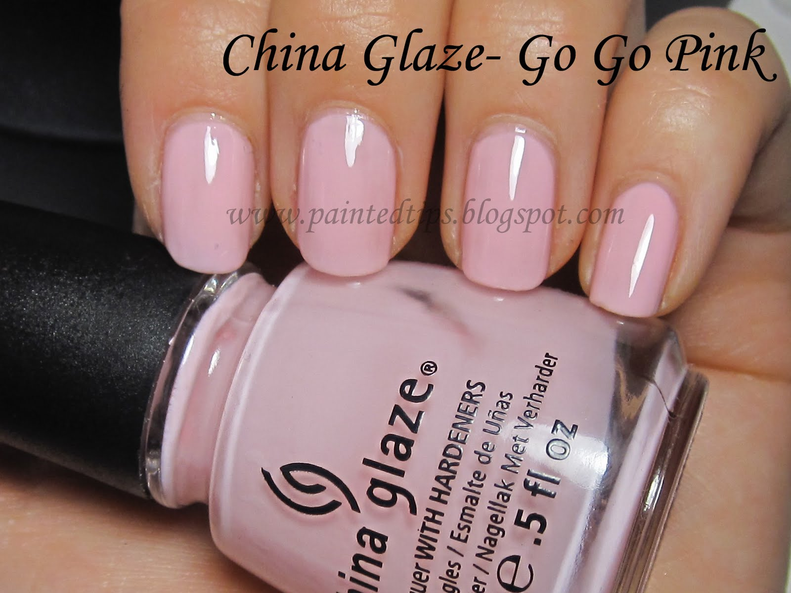 Painted Tips: China Glaze- Go Go Pink