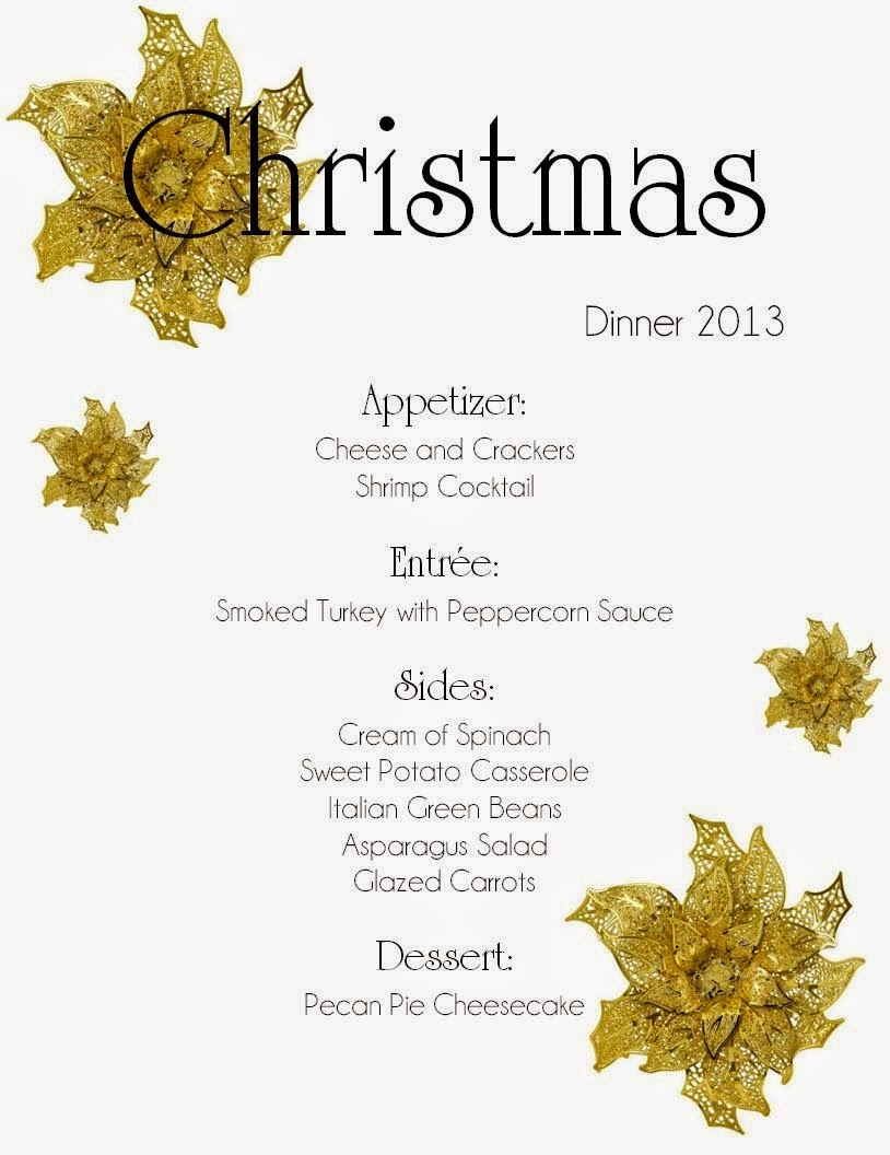 Mom Mart: Planning a Christmas Dinner Menu