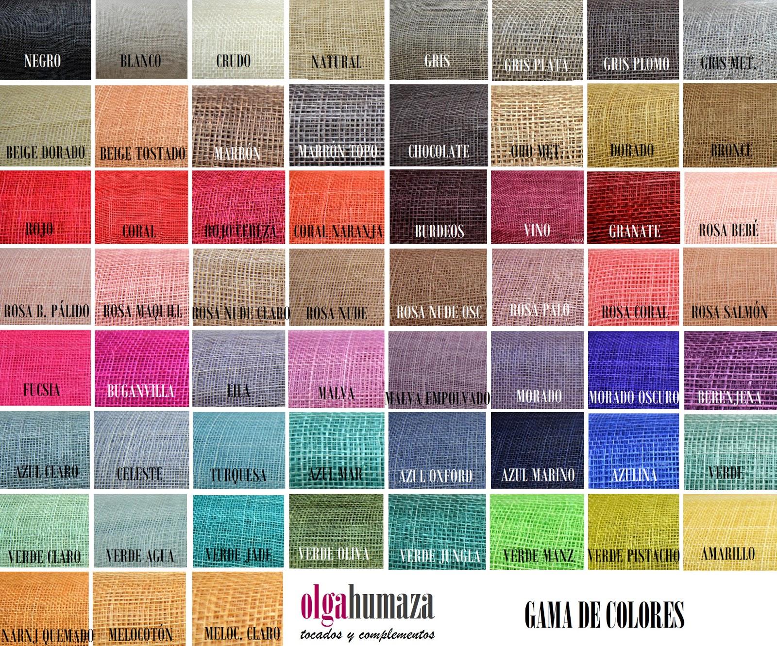 Olga humaza tocados y complementos junio 2013 - Gama de colores rosas ...