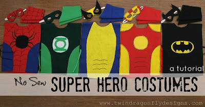 DIY no sew superhero costumes