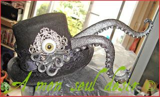 chapeau pieuvre tentacule cthulhu méduse  tentacle octopus hat
