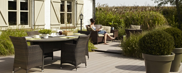 La terrasse en bois - Lame composite twinson ...