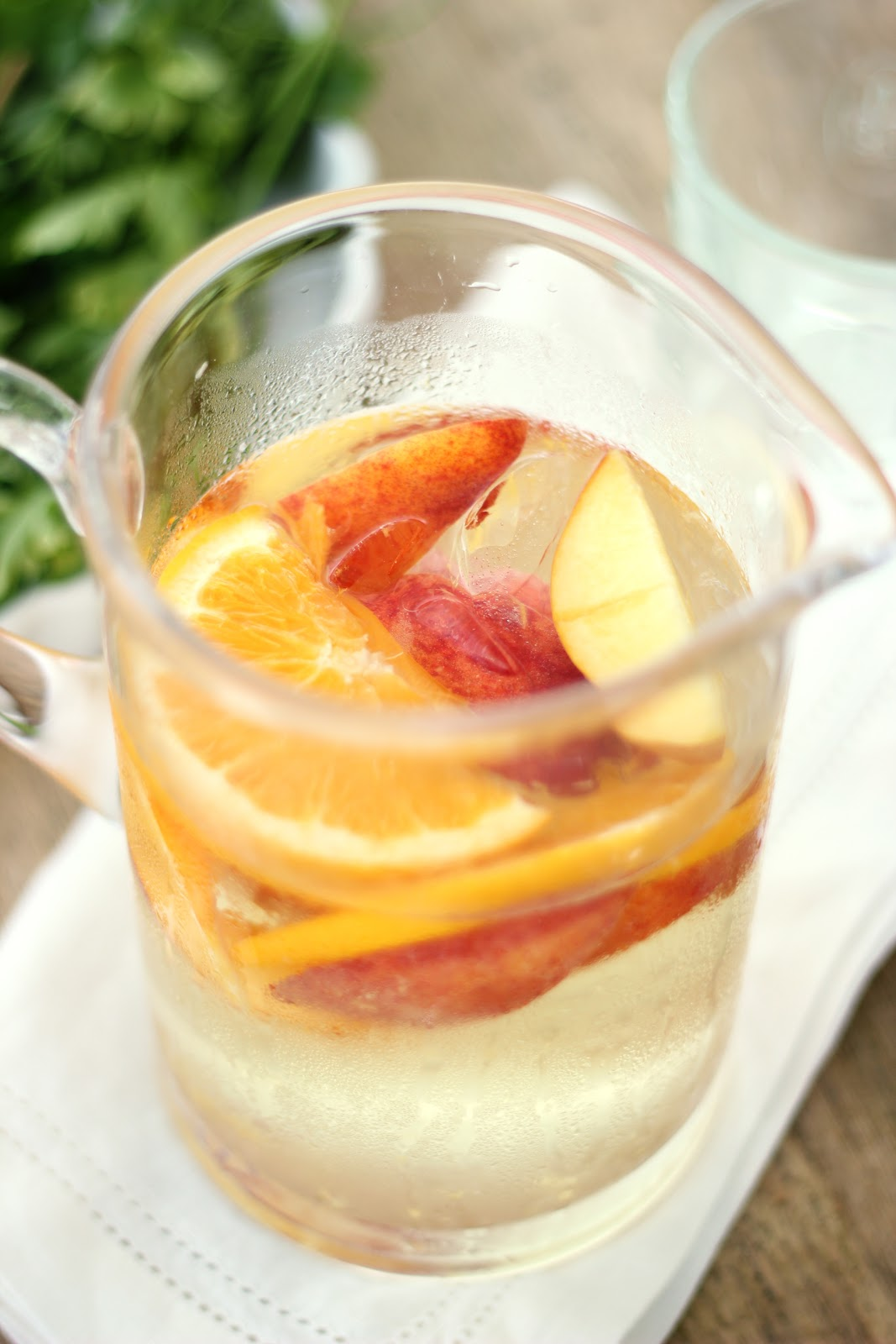 Jenny Steffens Hobick: White Peach Sangria | Summer Cocktail Recipes