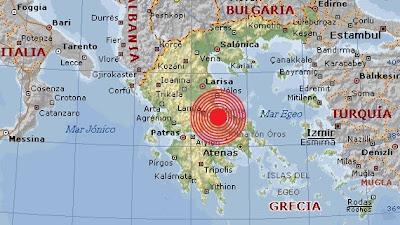 Epicentro sismo 5,1 grados, Grecia, 07 de Agosto 2013