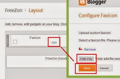 Cara mengganti atau memasang favicon pada blog