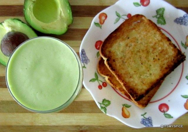 Sinh to bo- a vietnamese  smoothie with avocado