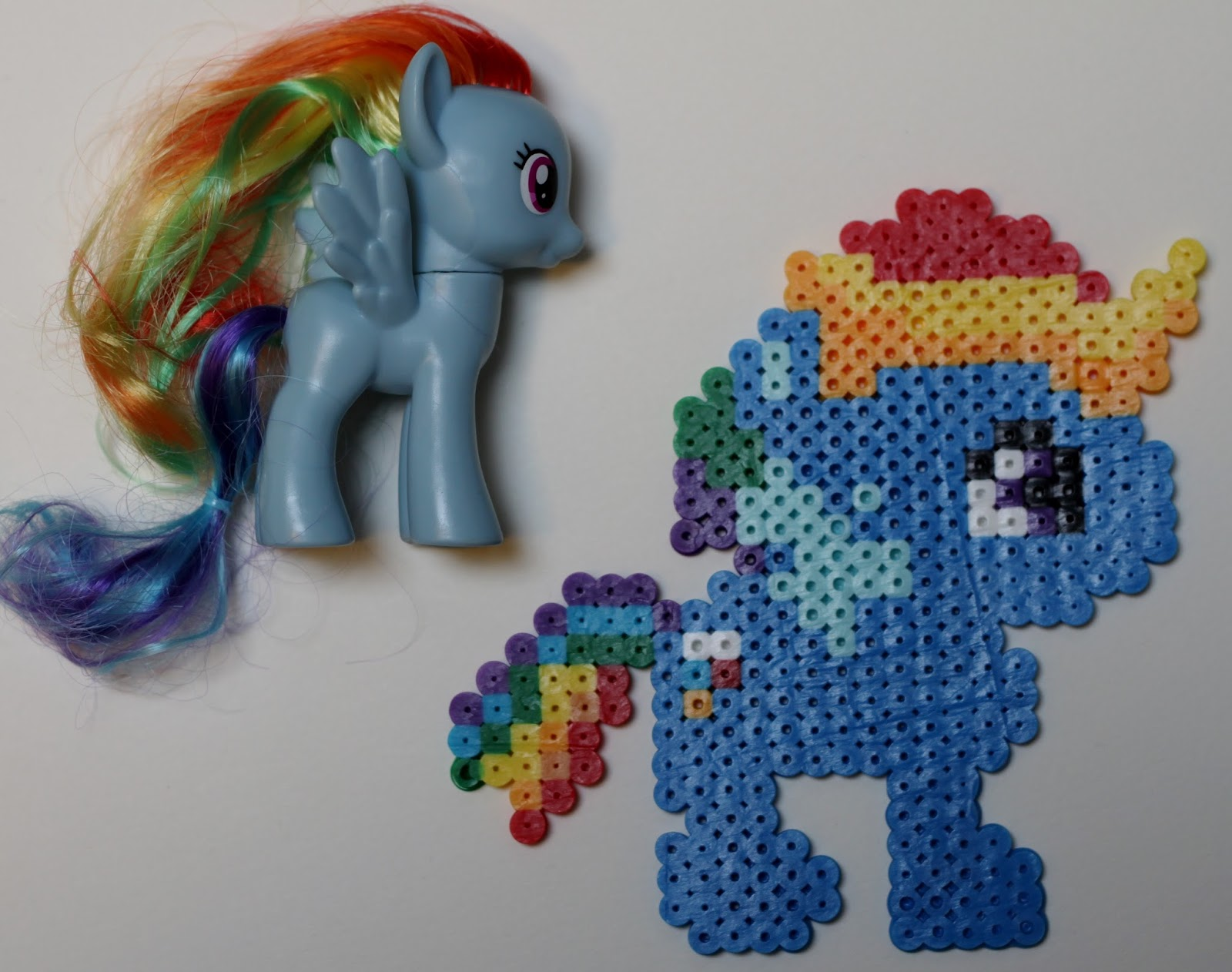 My Little Pony Rainbow Dash Perler Bead Perler Party