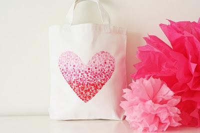 Bolsa com estampa de coração fácil passo-a-passo
