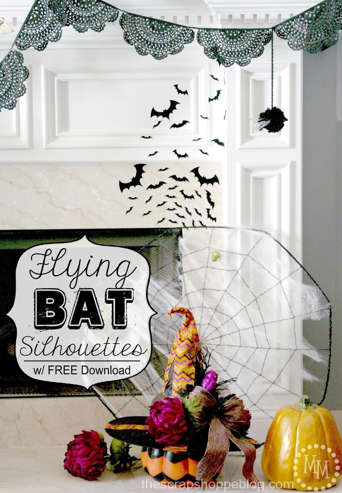 flying bat silhouettes the scrap shoppe