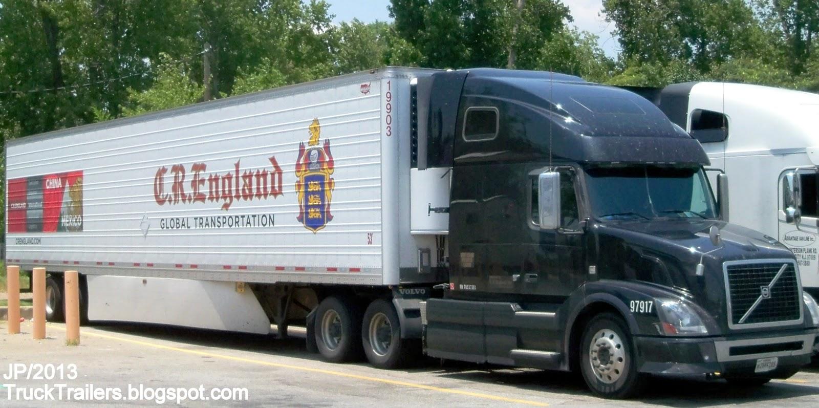 C r england transportation volvo sleeper cab truck c r england global transportation trucking company wabash 53 refrigerated trailer