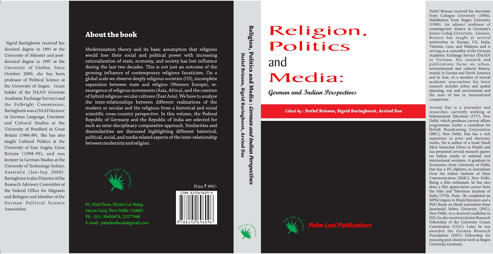 Religion Politics and Media: German and Indian Prespectives