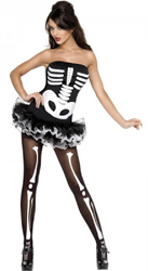 disfraz de esqueleto sexy para chicas