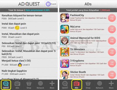 Cara Jitu Menghasilkan Dollar Dengan Aplikasi AdQuest