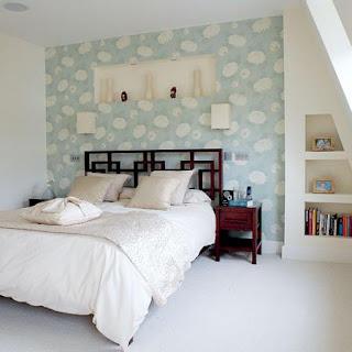 Camera da letto arredamento in stile orientale