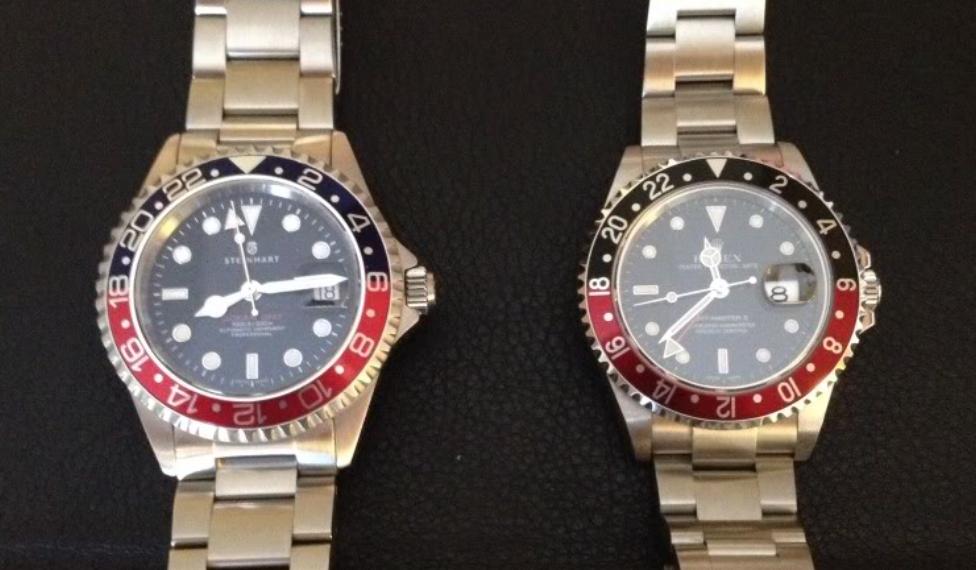 C Segment Wrist Watches Rolex Gmt Master Ii Vs Steinhart