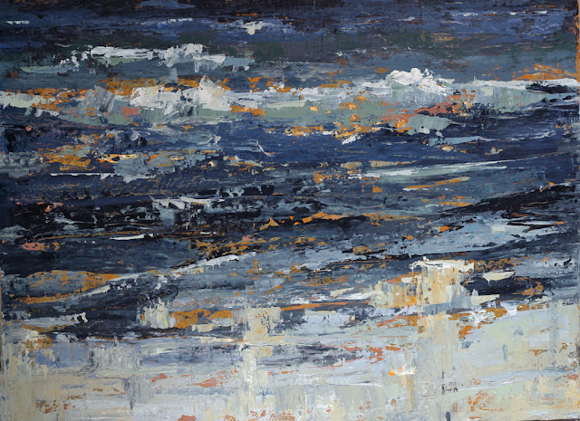 Ocean Wave painting by Karri McLean Allrich in acrylic, 36x38 inches
