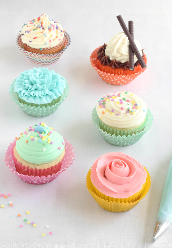 Easy Piping Techniques for Cupcakes | Pinnutty.com