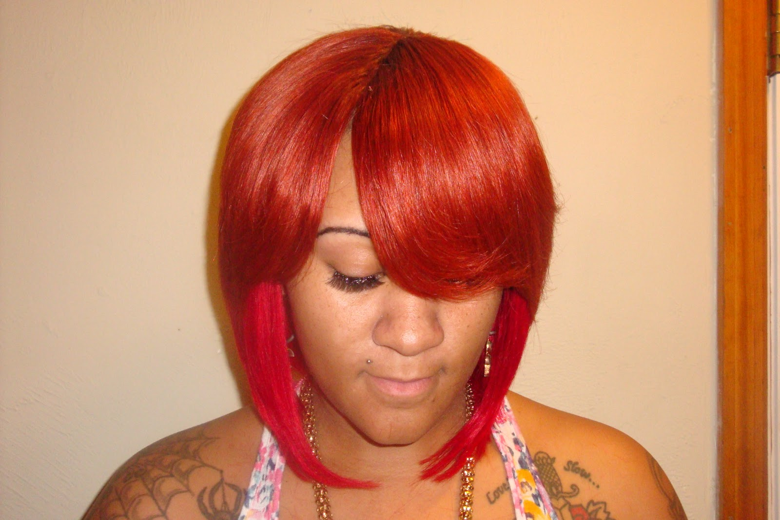 Sew in Bob with Bangs http://yinkasdesign.blogspot.com/2011/12/head-turners.html